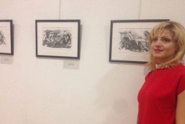سهى سلوم - فنانة سورية مشاركة في المعرض