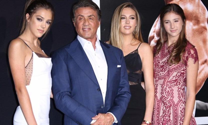 Сильвестр Сталлоне привел на премьеру фильма о Рокки своих дочерей