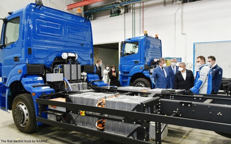 KAMAZ-Chistogor - the first electric truck by KAMAZ