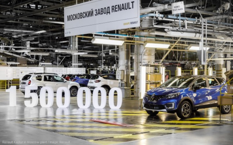 Renault Kaptur in Moscow plant
