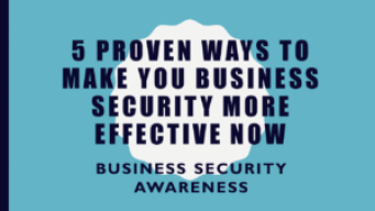 5 proven ways to make your business security effective now image