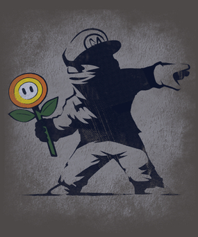 BANKSY FLOWER by Naolito