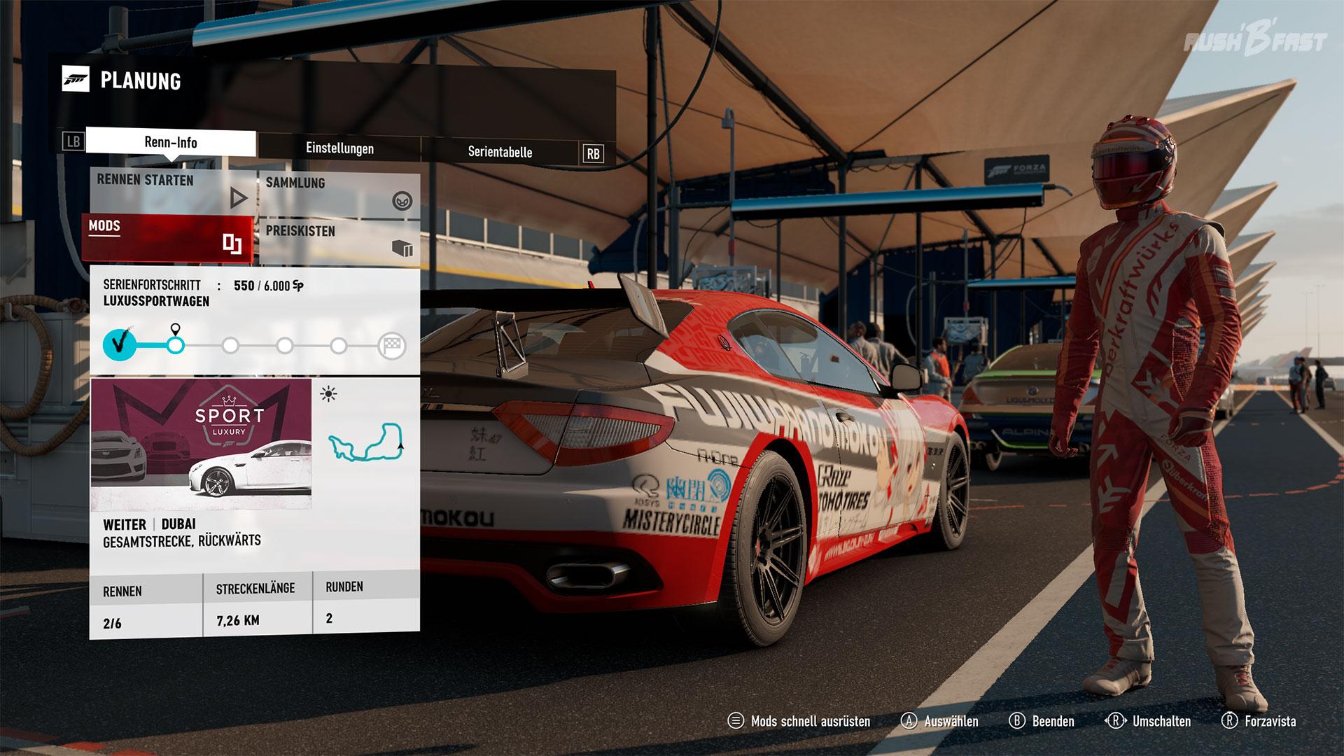 Forza Motorsport 7 - Mods für Ingame-Credits können zusätzliche Boni freischalten