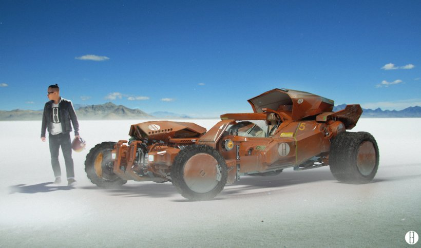 "Brad Wright ""Hotrod on salt flats"""