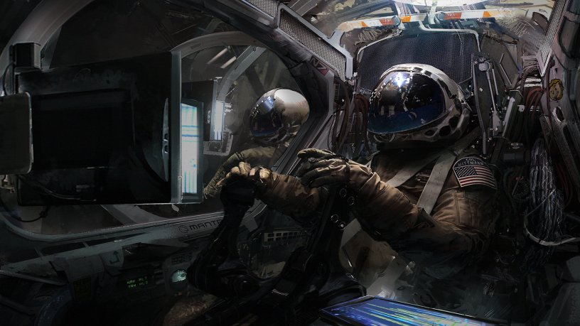 "Quelle: ArtStation - Klaus Wittmann ""Manta cockpit with pilots"""