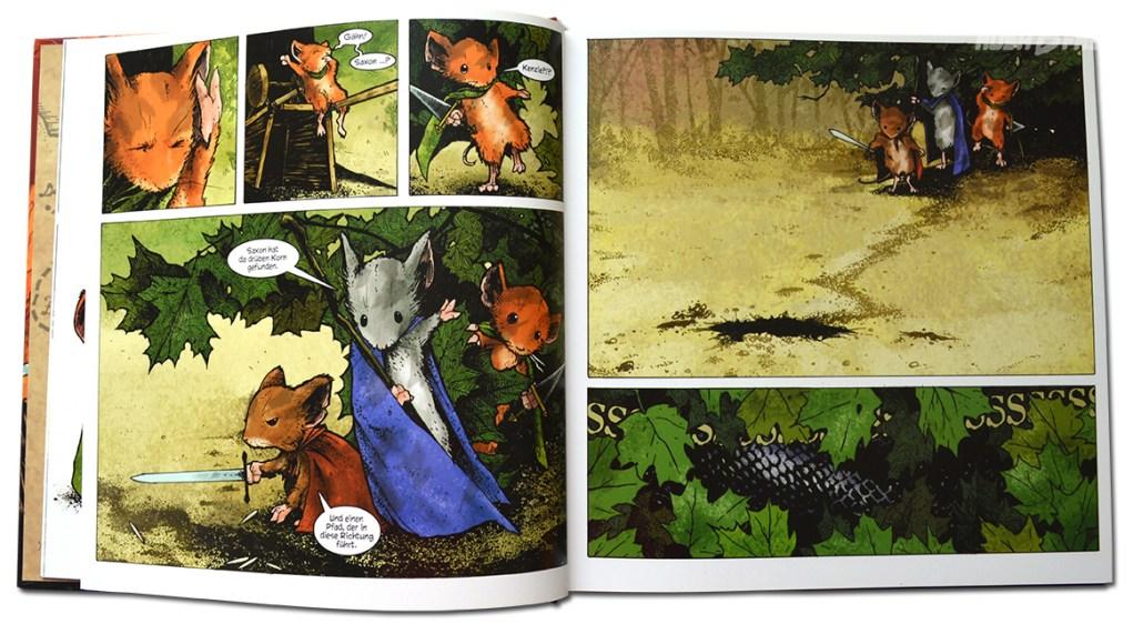 Graphic Novel - Mouse Guard 1152 (Doppelseite)- David Petersen