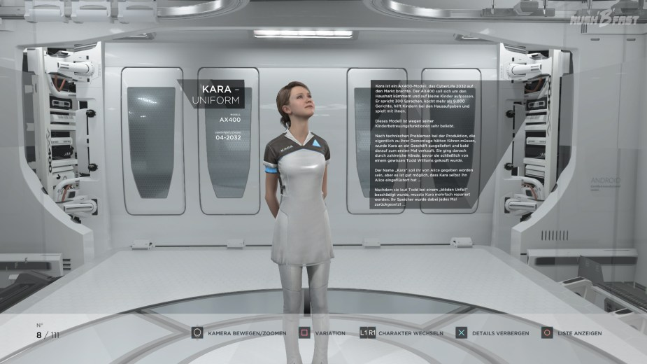 Detroit: Become Human - Kara - Modell: AX400