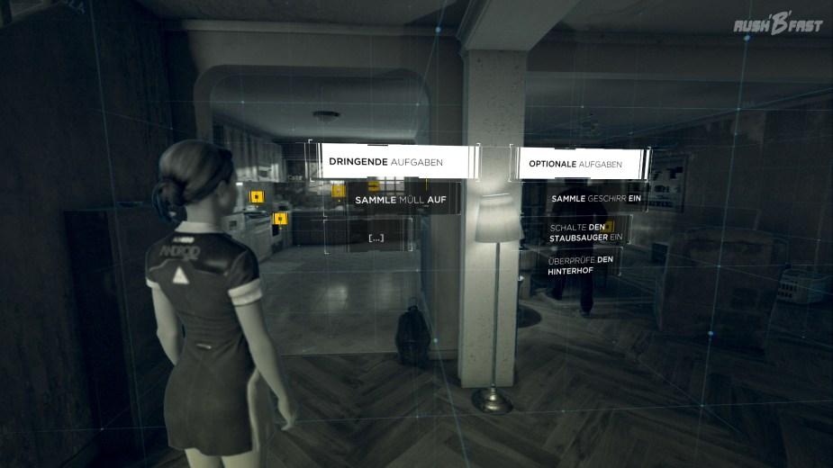 Detroit: Become Human - Übersicht über die Aufgaben durch den Scan-Modus.