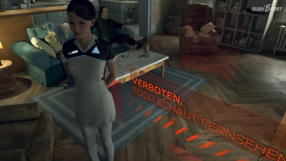 Detroit: Become Human - Kara darf durch den Befehl von Todd nicht mehr durch das Bild laufen.