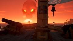 Sea of Thieves - Eine Totenkopf-Wolke signalisiert einen großen Schatz.