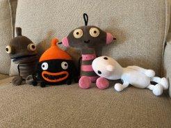 Quelle: Amanita Design - Machinarium-, Samorost- und Chuchelfiguren aus Plüsch.