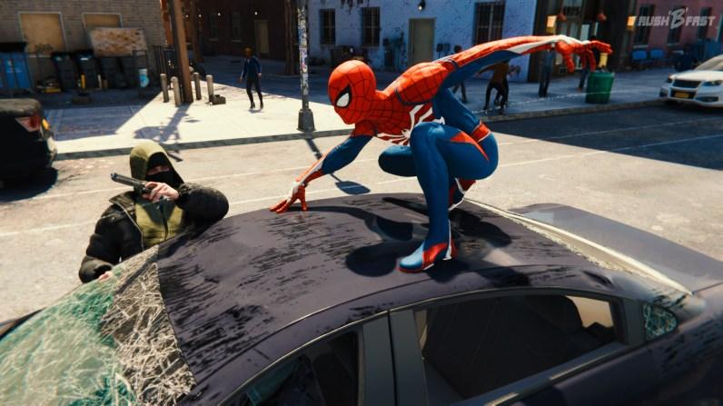 Spider-Man Verfolgungsjagd.