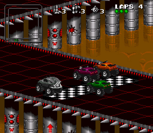 Blizzard Classic Arcade: Rock & Roll Racing - Rennen (Rookie)