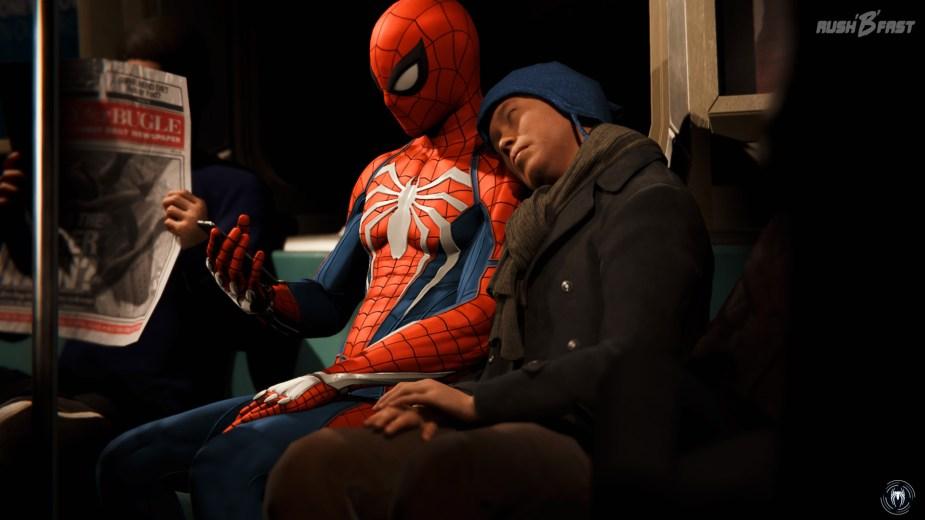 Marvel's Spider-Man - Sollten wir doch mal die Schnellreise benutzen, werden wir mit kurzen/lustigen Sequenzen belohnt.