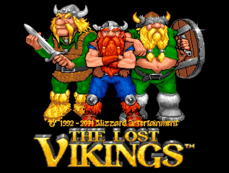 Blizzard Classic Arcade: The Lost Vikings - Sartbildschirm