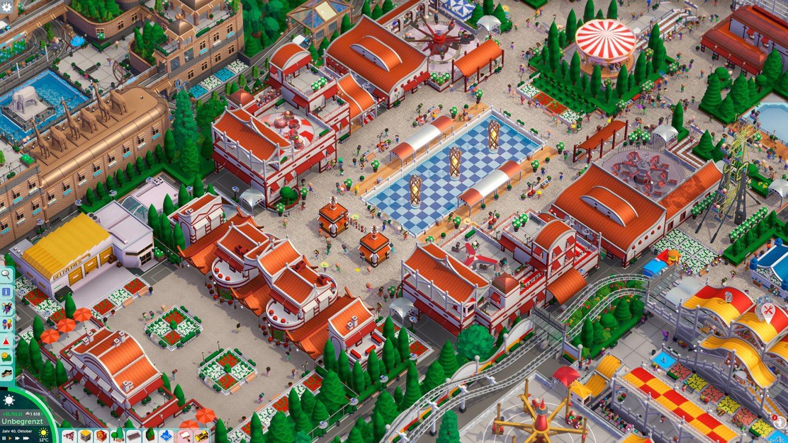 """Parkitect: Hier wird """"Schönbauen"""" großgeschrieben! (Steam Workshop: Park - Som i Serem von User KAZEL)"""