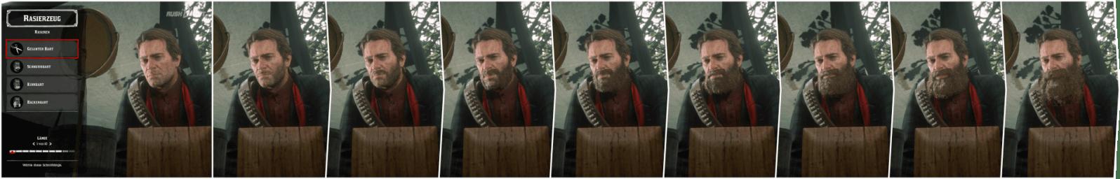 Red Dead Redemption 2: Der maximale Vollbart kann nur durch die regelmäßige Einnahme von Haartinkturen erreicht werden.