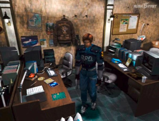 Resident Evil 2 (1998) - Leon durchsucht das Büro der S.T.A.R.S