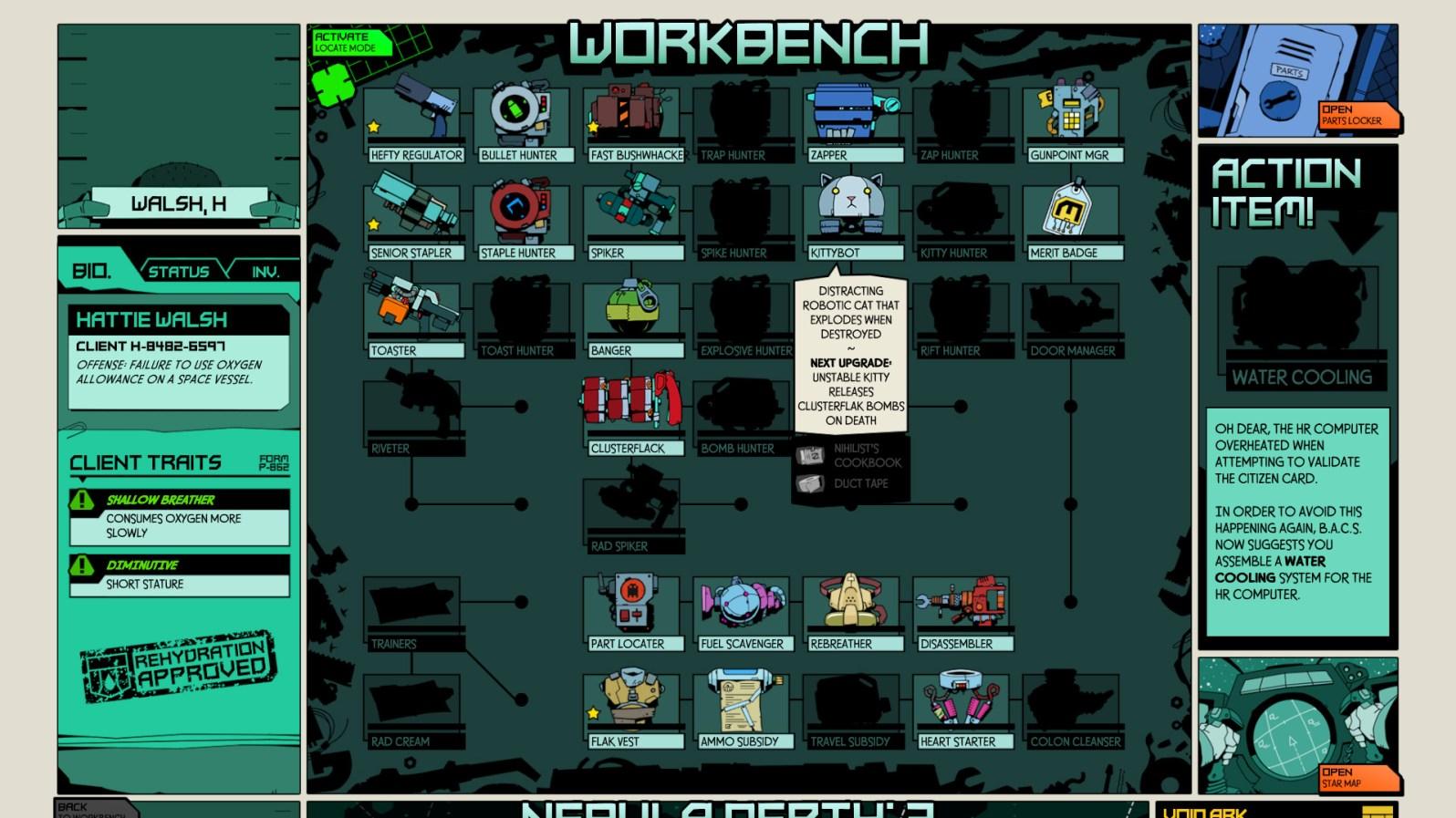 Quelle: voidbastards.com - Gegenstände werden an der Werkbank erstellt oder verbessert.
