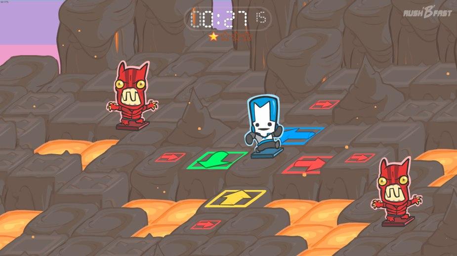 Castle Crashers - Der neue Spielmodus fordert viel Koordination und Reaktion von uns.