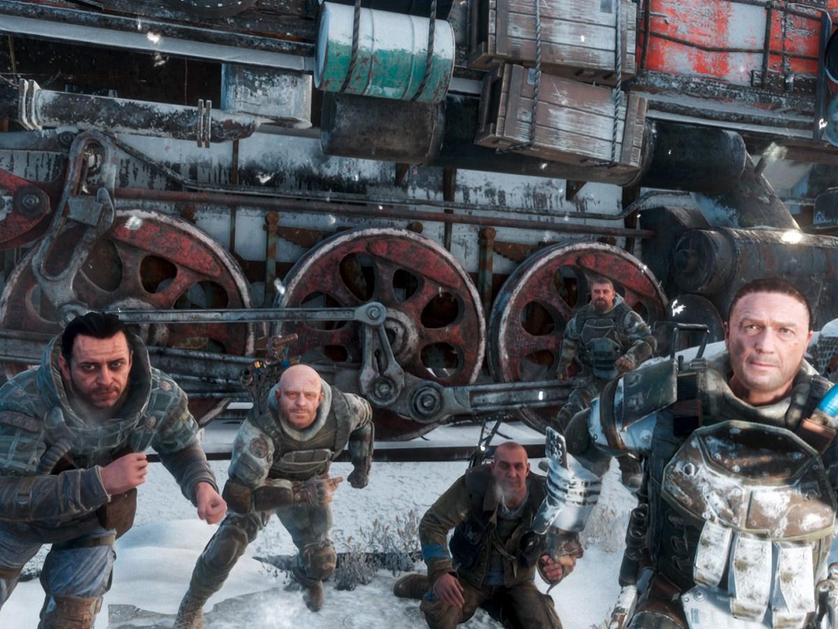 Metro Exodus - Aurora und Crew im Winter