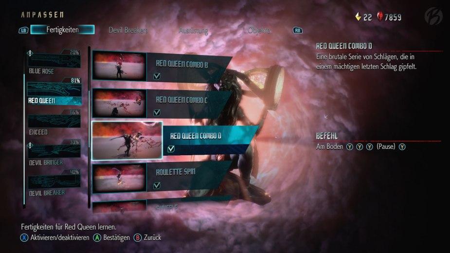 Devil May Cry 5: Es gibt unglaublich viele Fertigkeiten die wir im Laufe des Spiels Freischalten können.