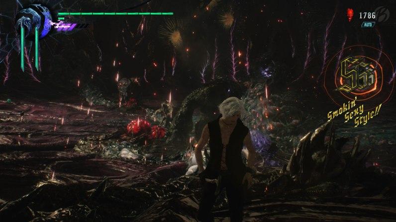 Devil May Cry 5: Smokin' Sexy Style! Ein seltener Anblick auf meinem Bildschirm und auch leider nur mit Hilfe des Auto-Modus geschafft.