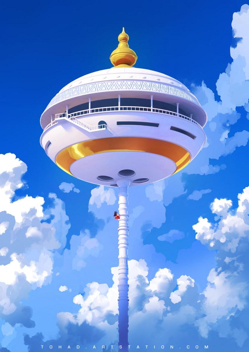 Quelle: tohad.artstation.com - Sylvain Sarrailh - Dragon Ball Karin Tower