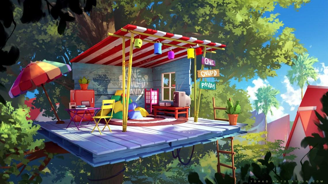 Quelle: tohad.artstation.com - Sylvain Sarrailh - Panda Hut