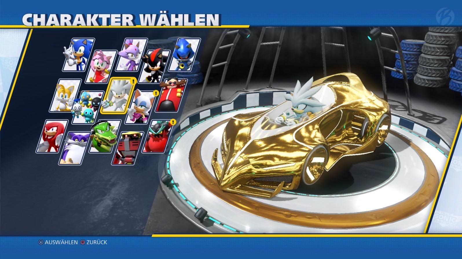 Jeder Charakter besitzt sein eigenes Fahrzeug, das optisch an ihn angepasst wurde. Hier im Bild seht Ihr Silver mit der legendären Fahrzeugausstattung.