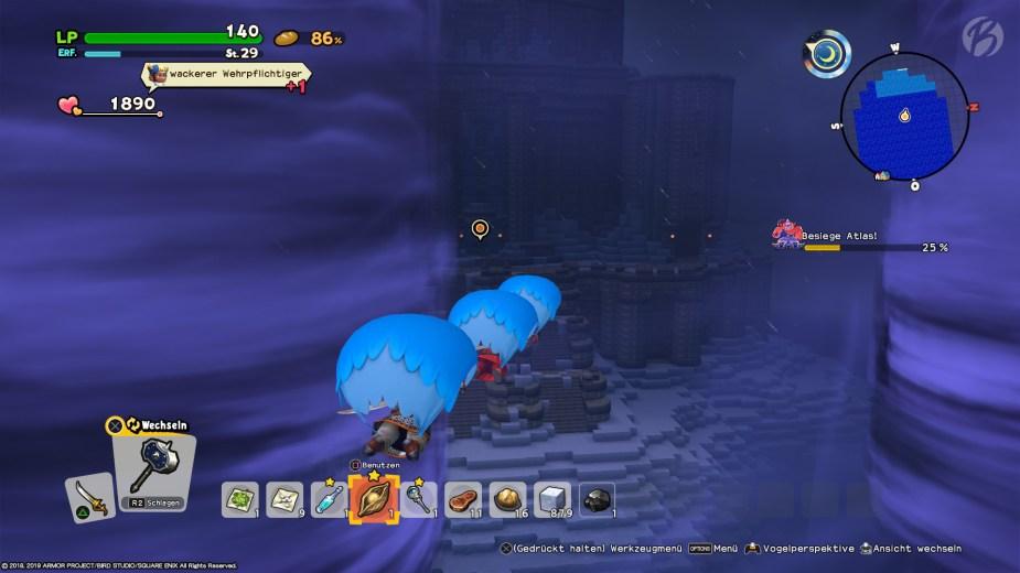 Eine der kniffligsten Quests war für mich die Suche des Leuchtturms, doch nach einem gewagten Sprung über die Klippe erschien endlich der Questmarker.