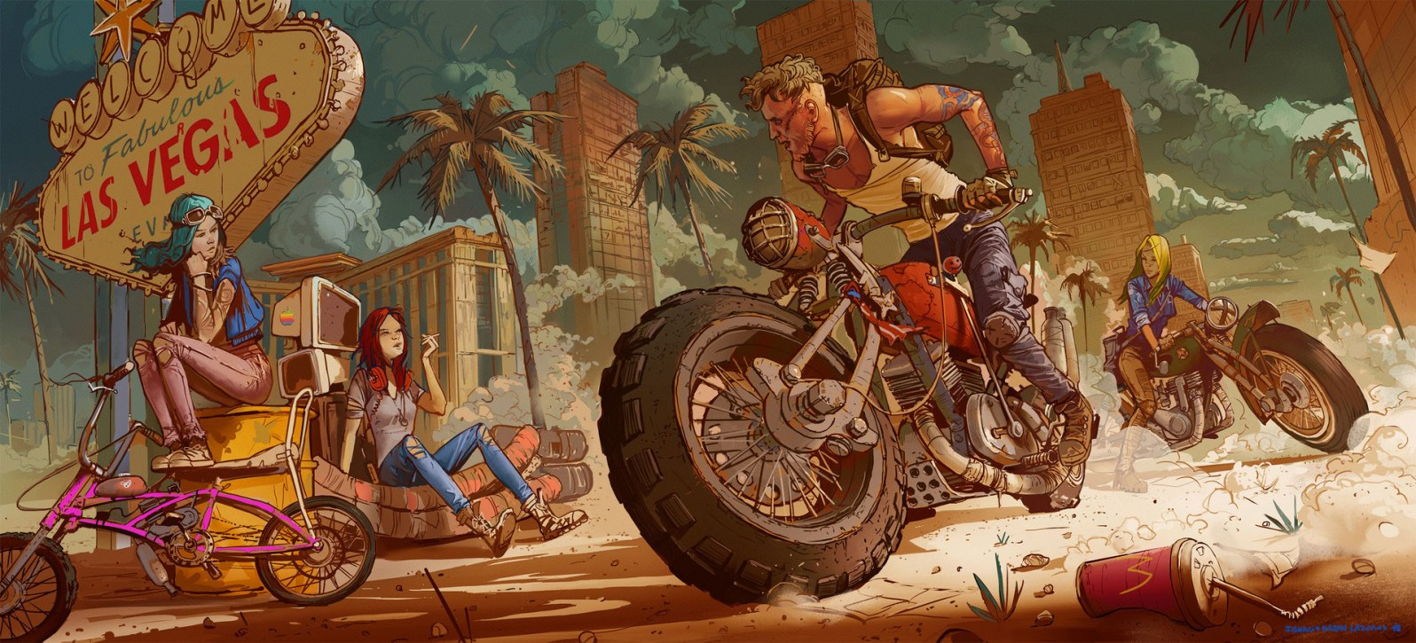 Quelle: neisbeis.artstation.com - Ignacio Bazan-Lazcano - bike 3