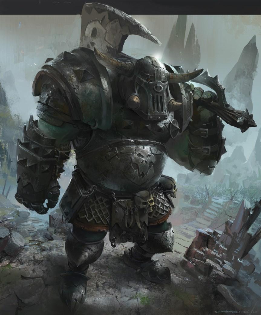 Quelle: neisbeis.artstation.com - Ignacio Bazan-Lazcano - Orc Warhammer total war fanart