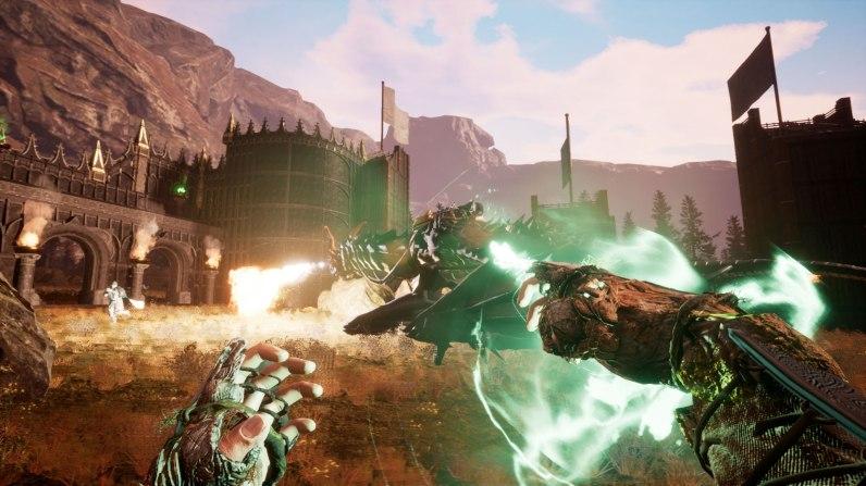 Drachenpower! Erfolgreich gezähmt, kämpft unser mächtiges Reittier gegen die Belagerung an.