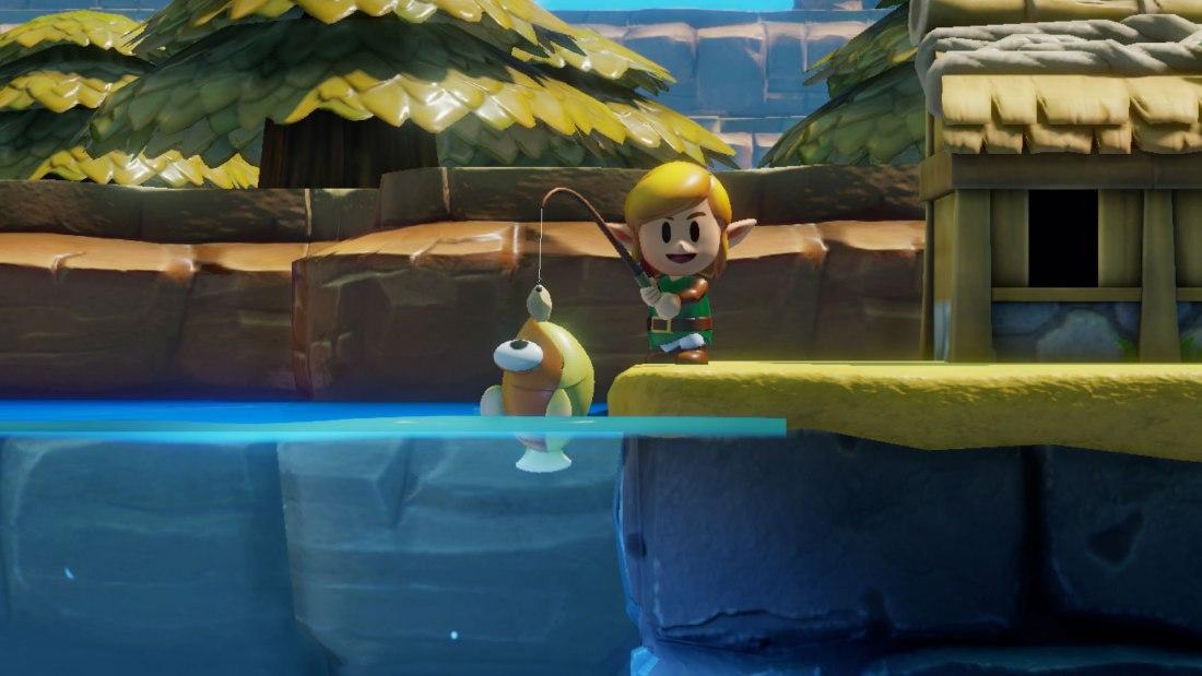 Für das Angelspiel wechselt die Kameraperspektive, so das wir sehen können, wo die Fische schwimmen.