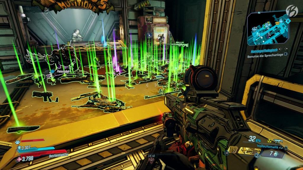 Mit einer im Spiel freischaltbaren Waffe können wir Eridium nutzen, um Waffen zufälliger Seltenheitsgrade aus der Wumme zu feuern.