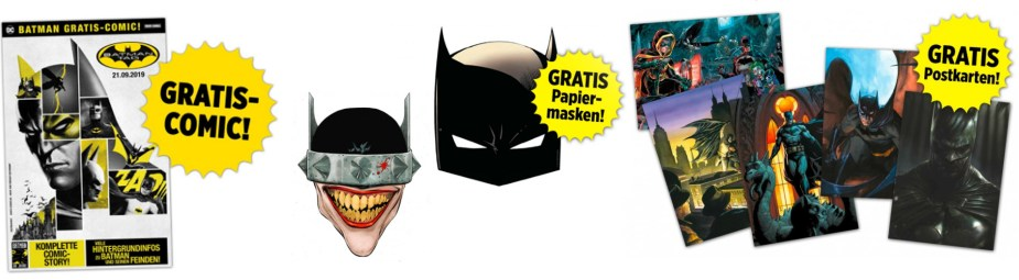 Quelle: Panini - Gratis Batman: Comic, Masken und Postkarten