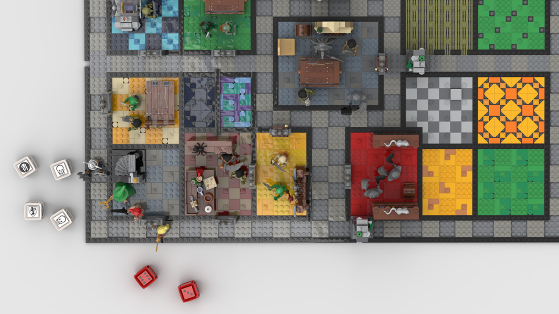 Quelle: LEGO IDEAS - Hero Quest - Spielbrett bespielt