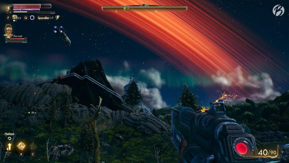 The Outer Worlds - Die echt gut gestaltete Spielwelt mit ihrem ausgefallenen Space-Age Look macht auch ohne aktive Quest richtig viel Spaß.