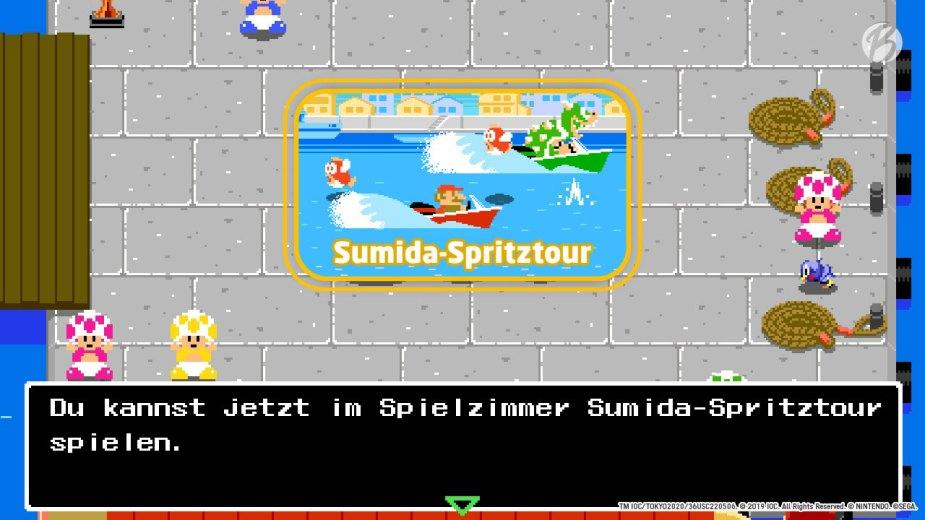 Mario & Sonic bei den Olympischen Spielen: Tokyo 2020 - Minispiel: Sumida-Spritztour