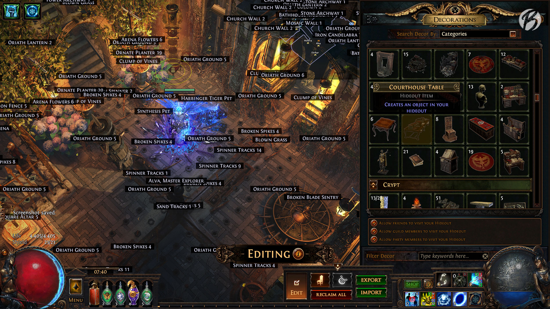 Path of Exile - Izaro's Domain Hideout (ohne MTX, Battle-scarred Hideout)