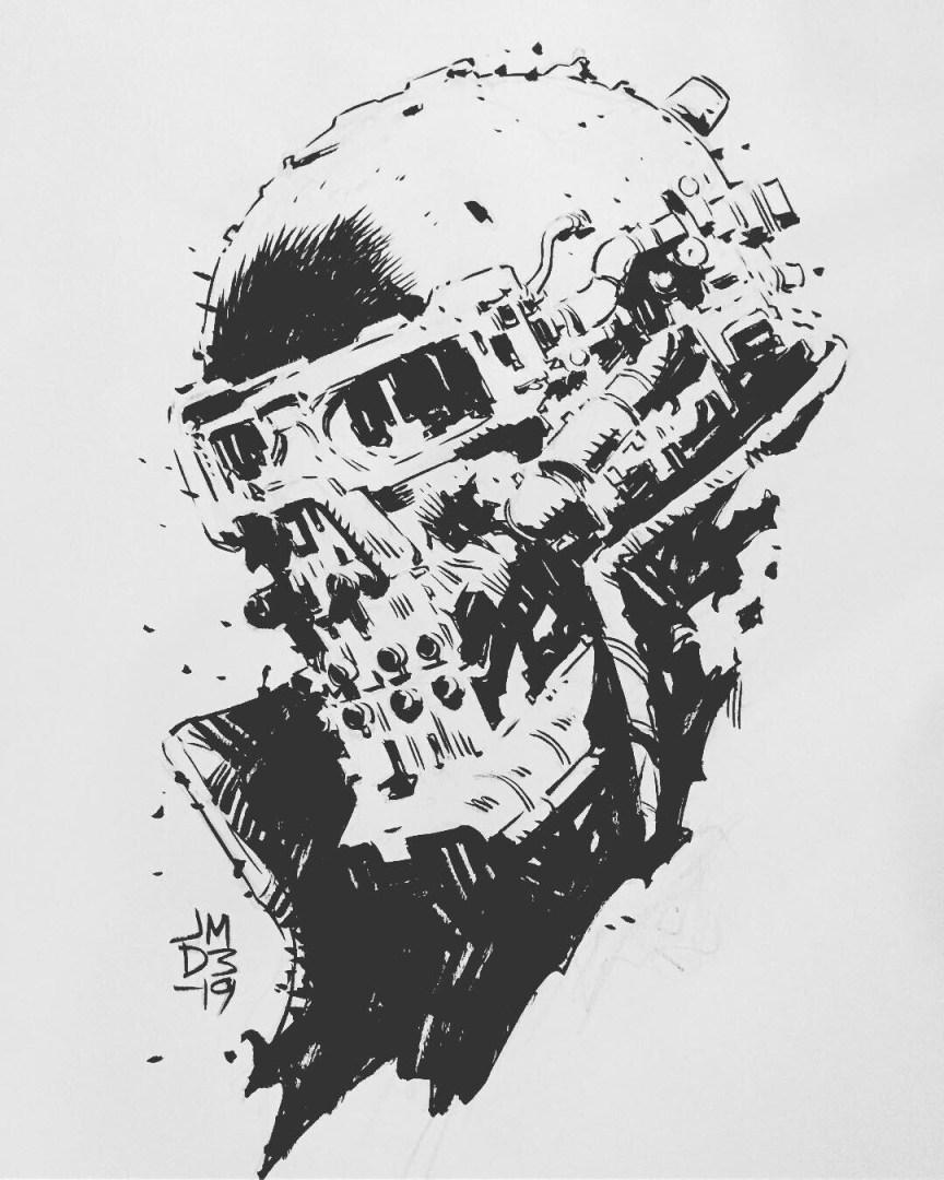 James Daly - Cyborg sketch