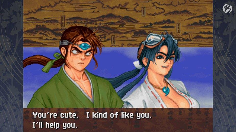 Samurai Aces Episode II: TENGAI - Je nach Charakterauswahl gibt es andere Dialoge.