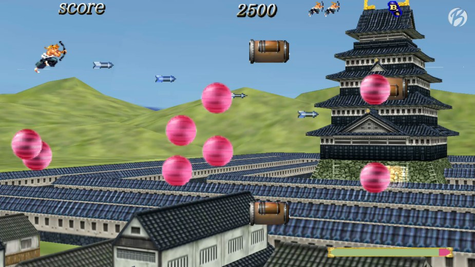 Samurai Aces Episode III: SENGOKU CANNON - Große pinkfarbene Projektile