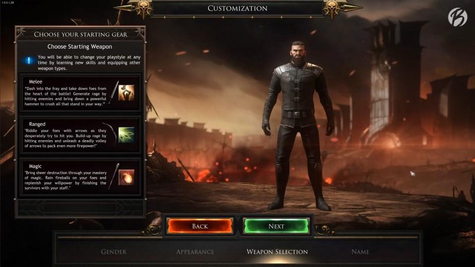 Charaktererstellung und Wahl der Ausrüstung