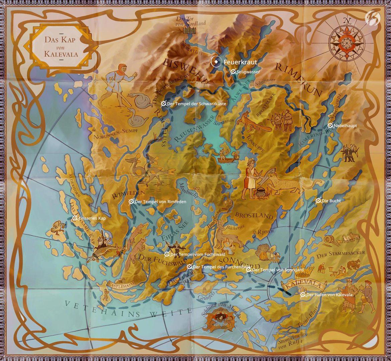 Iron-Danger - Mit unserem Schiff namens Feuerkraut bereisen wir das Land von Kalevala.