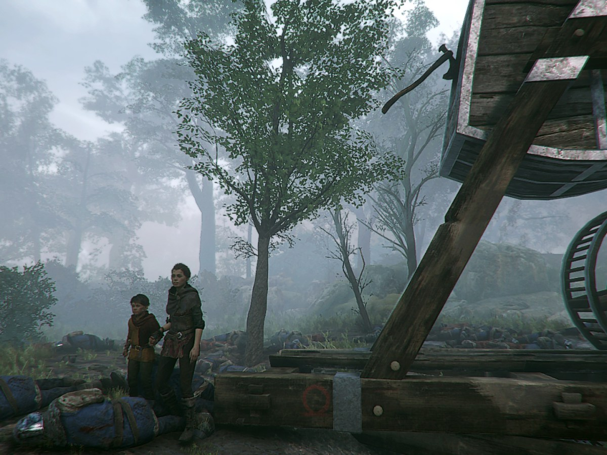A Plague Tale: Innocence - God of War Axt im Tribock Gegengewicht.
