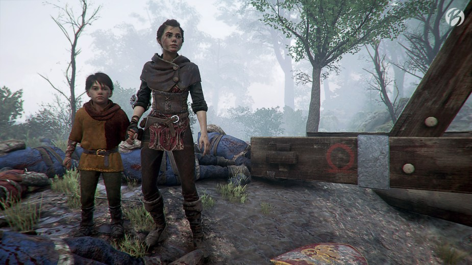 A Plague Tale: Innocence - God of War Rune am Sockel des Tribock.