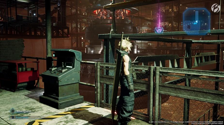 FINAL FANTASY VII (Remake) - Nur durch Herunterfahren der Brücke gelangen wir an das versteckte Materia.