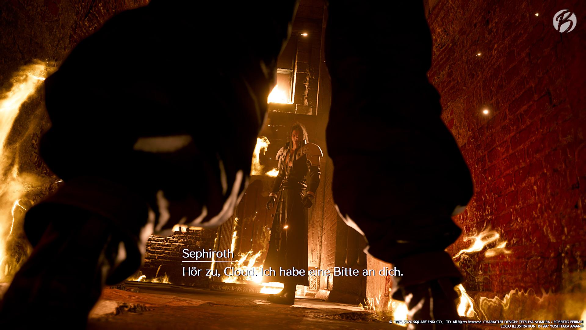 FINAL FANTASY VII (Remake) - Cloud trifft in Gedanken immer wieder auf seinen Gegenspieler Sephiroth.
